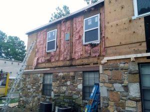 Apt. Fire Capri Poolside Siding Repair